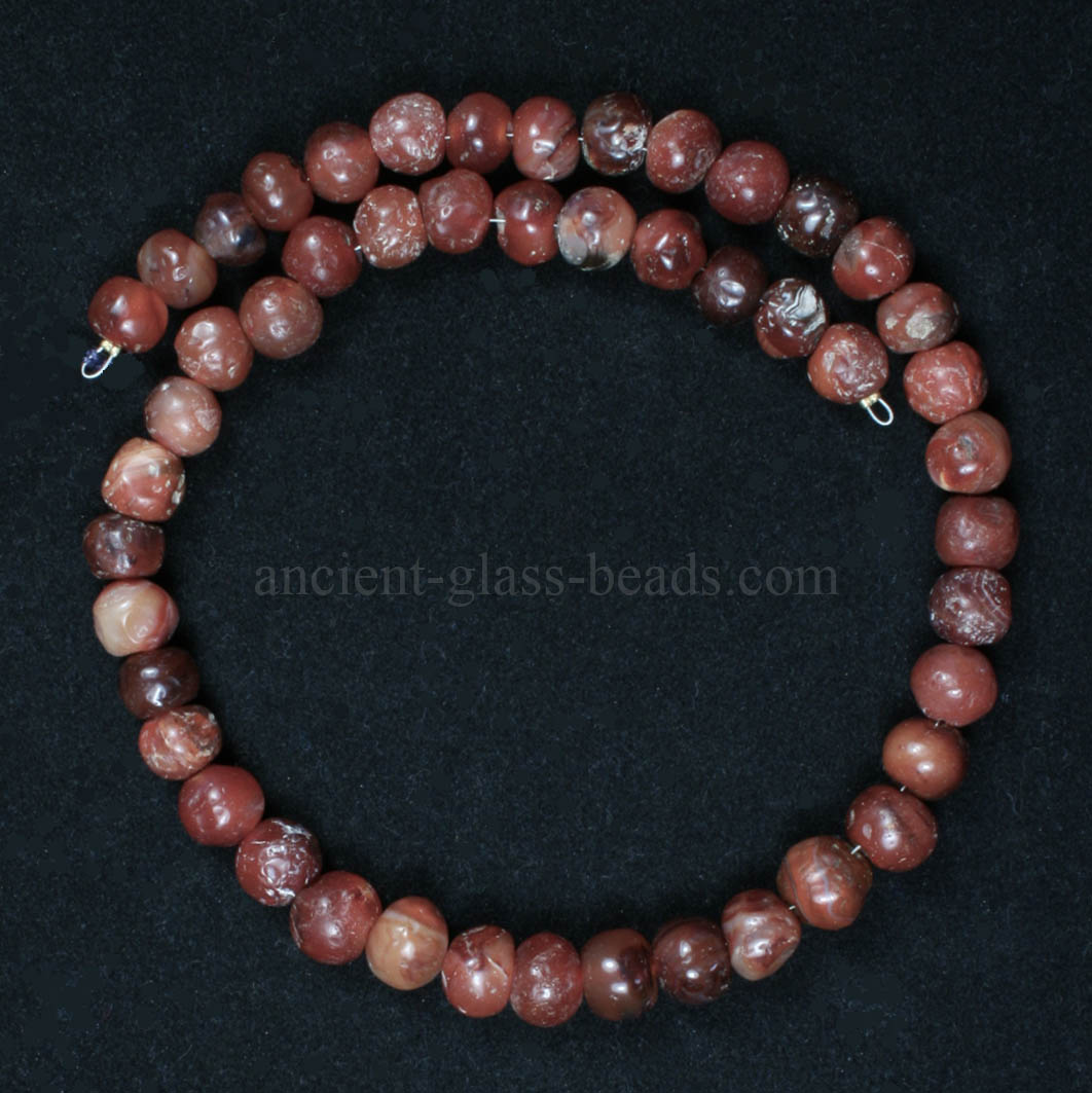 Ancient Roman carnelian necklace 226NA