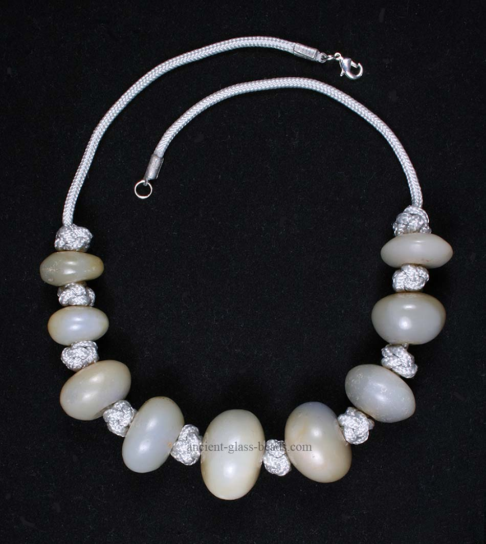 Ancient Roman chalcedony necklace