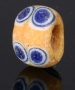 Ancient glass layered paired eye bead, Mediterranean