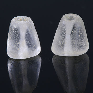 Two ancient Roman rock crystal beads
